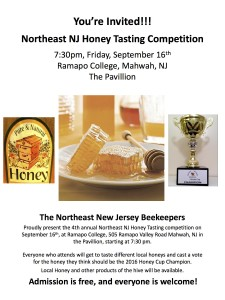 Honey Tasting Competition 2016 v2
